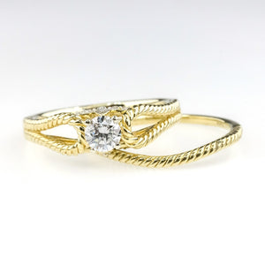 Diamond Bridal Set 0.33ct 10K Yellow Gold Bridal Sets Oaks Jewelry
