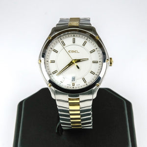 Ebel Classic Sport E9955Q41 Two Tone Stainless Steel Quartz Men's Watch Watches Ebel
