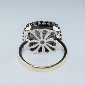 Effy 14K White Gold 1.25ctw Round Cut Black & White Diamond Accented Pave Ring Diamond Rings EFFY