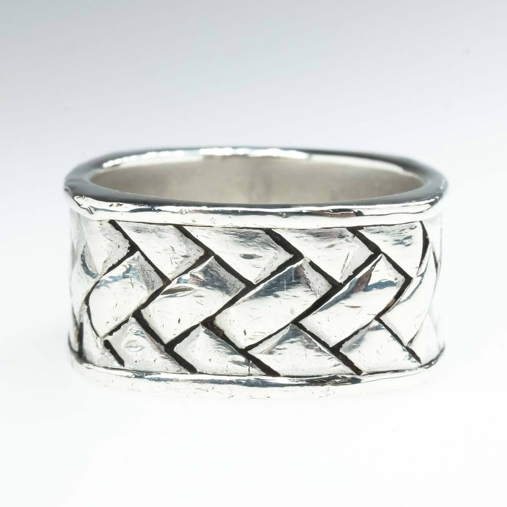 EFFY Woven Square Ring in Sterling Silver Metal Rings EFFY