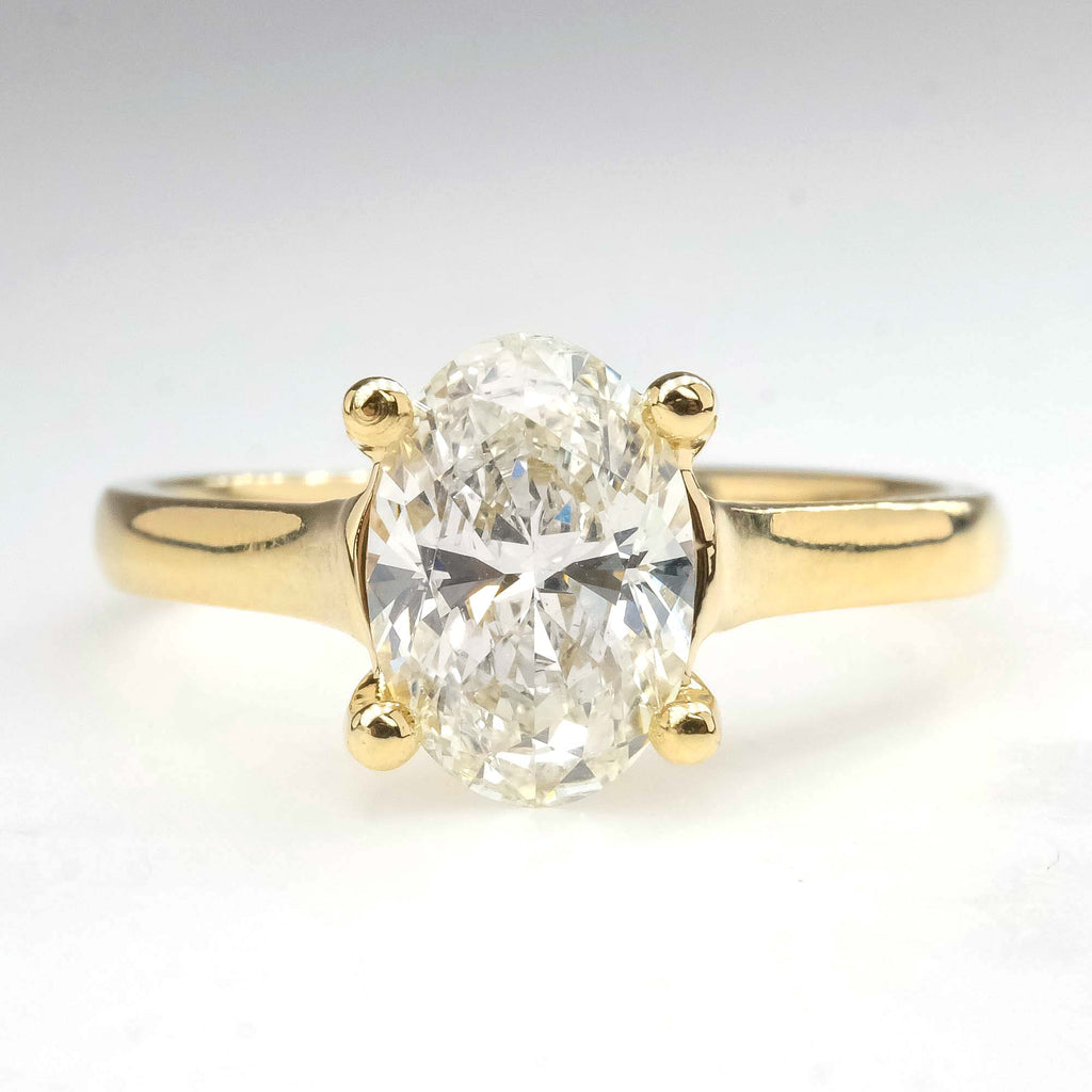 EGL 1.65ct SI1/H Oval Diamond Solitaire Engagement Ring in 14K Yellow Gold Engagement Rings Oaks Jewelry