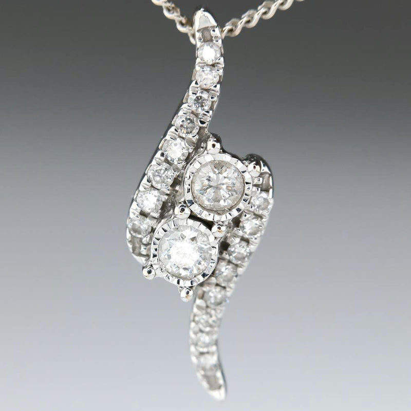 Ever Us Bypass Diamond Pendant with Chain Necklace Pendants with Chains Ever Us