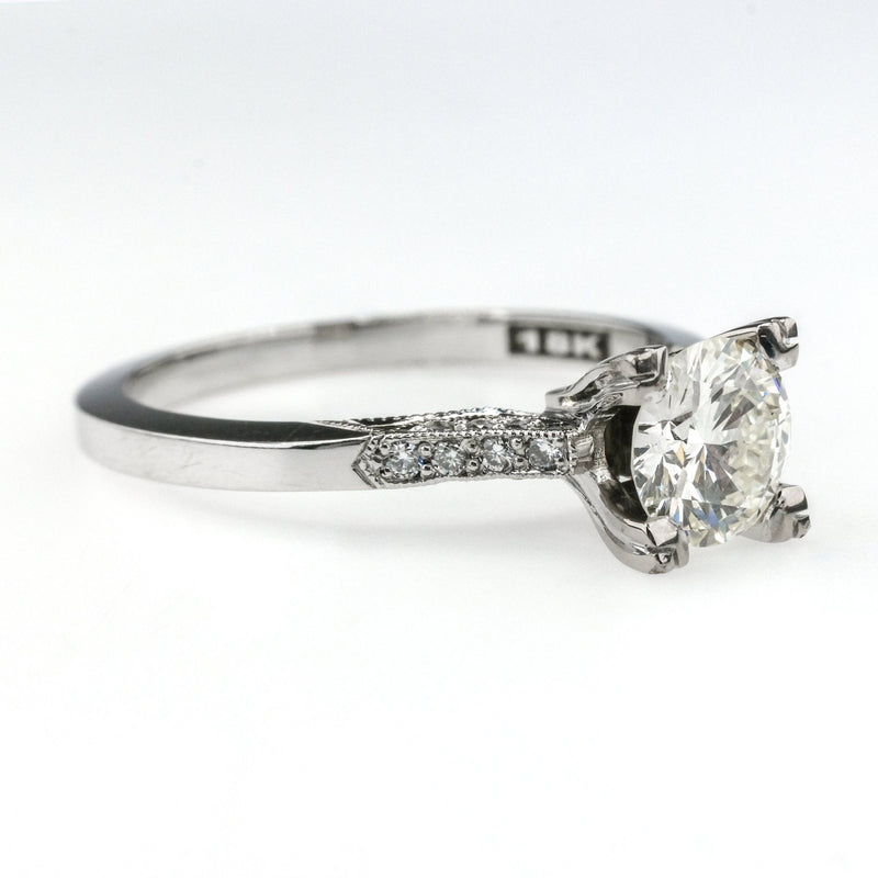 GIA 0.78ct VVS1/K Round Diamond Tacori Engagement Ring in 18K White Gold Engagement Rings Tacori