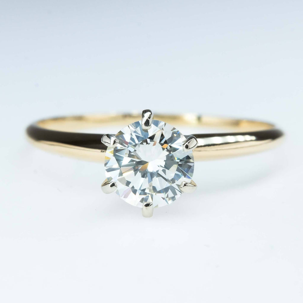 GIA 0.88ct VVS1/L Round Diamond Solitaire Engagement Ring in 14K Yellow Gold Engagement Rings Oaks Jewelry