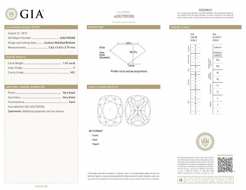GIA 1.01ct VS1/F Cushion Diamond Halo Bridal Set in 14K Yellow Gold Bridal Sets Oaks Jewelry