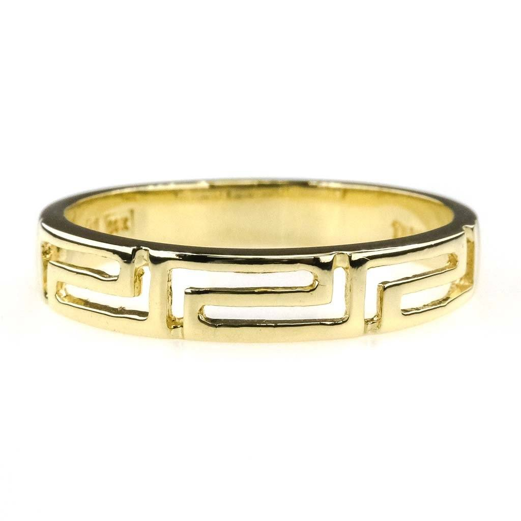 Greek Key Design Wedding Band in 14K Wedding Band Wedding Rings Oaks Jewelry