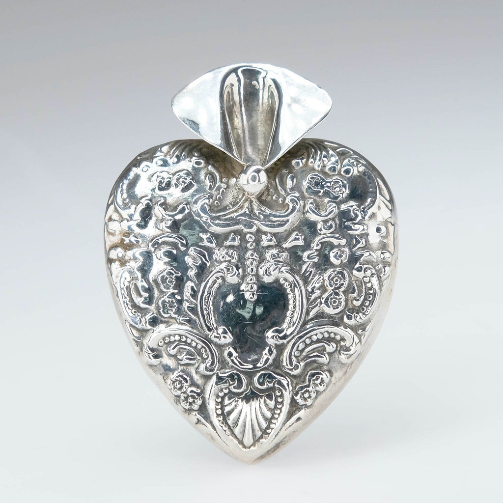 Groom's Heart Sterling Silver Lapel Vase Wedding Boutonniere Holder Pin Pins and Brooches Oaks Jewelry