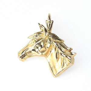 Horse Pendant in 14K Yellow Gold Pendants Oaks Jewelry