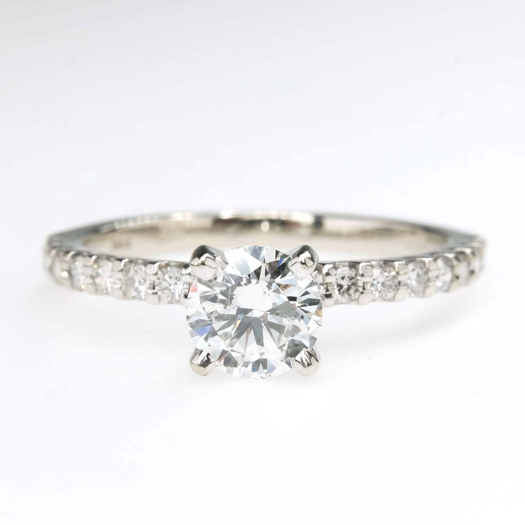 IGI 0.60ct I1/G Round Diamond Engagement Ring in 14K White Gold Engagement Rings Oaks Jewelry