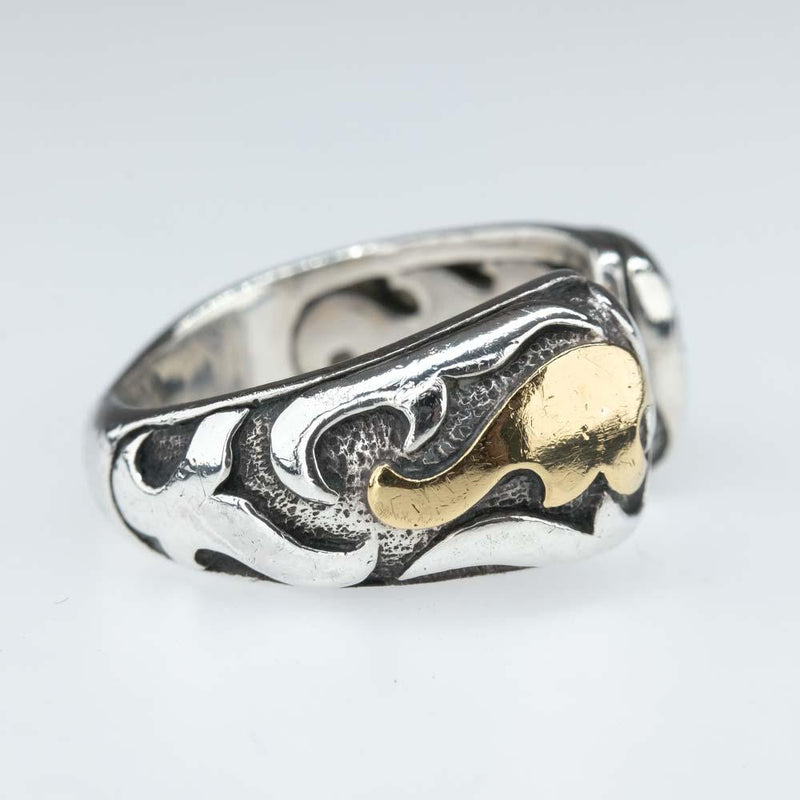 John Hardy Sterling Silver and 22K Yellow Gold Dayak Cuff Ring Metal Rings John Hardy