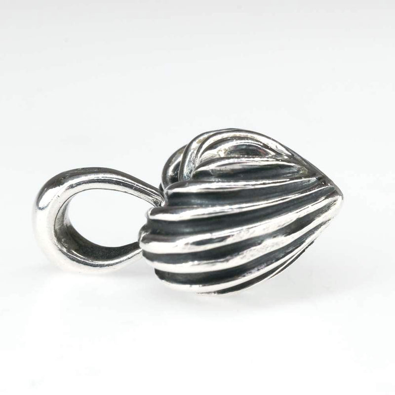 Lagos Caviar Puff Fluted Heart Pendant in Sterling Silver Pendants Lagos