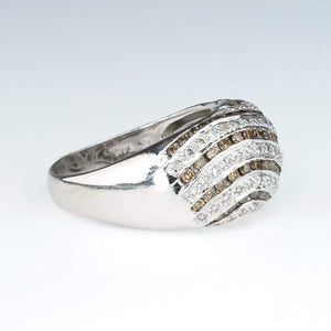 Le Vian Chocolate and White Diamonds Cocktail Dome Ring Diamond Rings Le Vian
