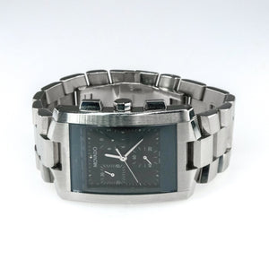 Movado Eliro Black Dial Stainless Steel Men's Quartz Watch Watches Movado