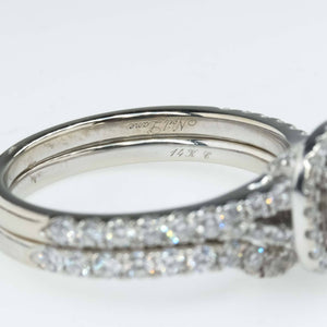 Neil Lane Princess Cut Diamond Double Halo Engagement & Matching Band Bridal Set Bridal Sets Neil Lane