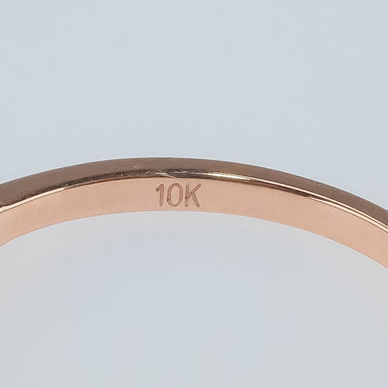 New 10K Rose Gold 0.25ctw Diamond Accents Contour Wedding Band Ring Size 6.5 Wedding Rings Oaks Jewelry