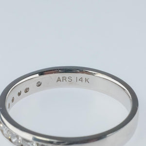 New 14K White Gold 0.50ctw SI2/H Diamond Accents Wedding Band Ring Size 7 Wedding Rings Oaks Jewelry