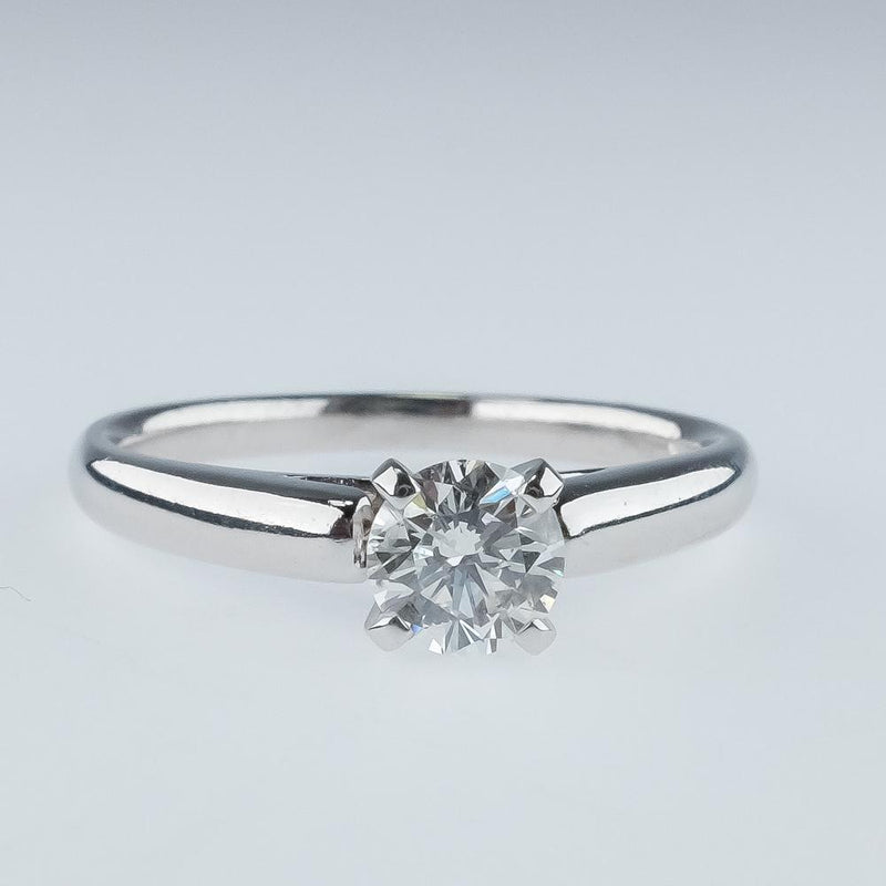 New 14K White Gold 0.53ct SI2/H Round Diamond Solitaire Engagement Ring Size 7 Engagement Rings Oaks Jewelry