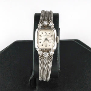 Omega Vintage Automatic Diamond Accented 14K White Gold Ladies Watch Watches Omega