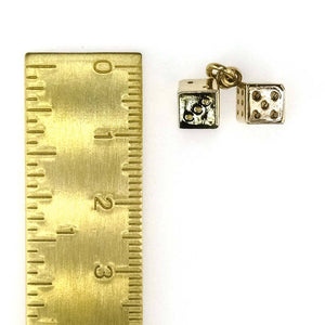 Pair of Dice Charm in 14K Yellow Gold Charms and Charm Bracelets Oaks Jewelry