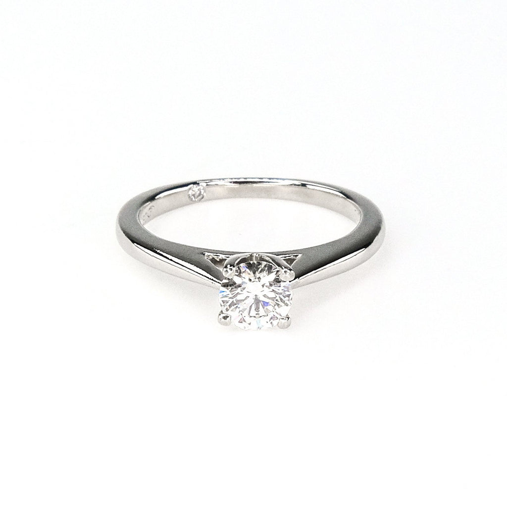 Platinum 0.53ct IGI Certified Round Diamond VS1/H Solitaire Engagement Ring Engagement Rings Oaks Jewelry