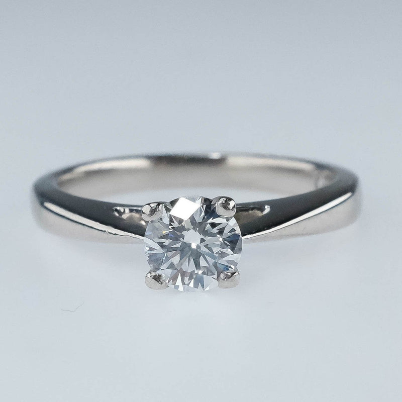 Platinum IGI Certified 0.53ct Round Diamond VS1/F Solitaire Engagement Ring Engagement Rings Oaks Jewelry