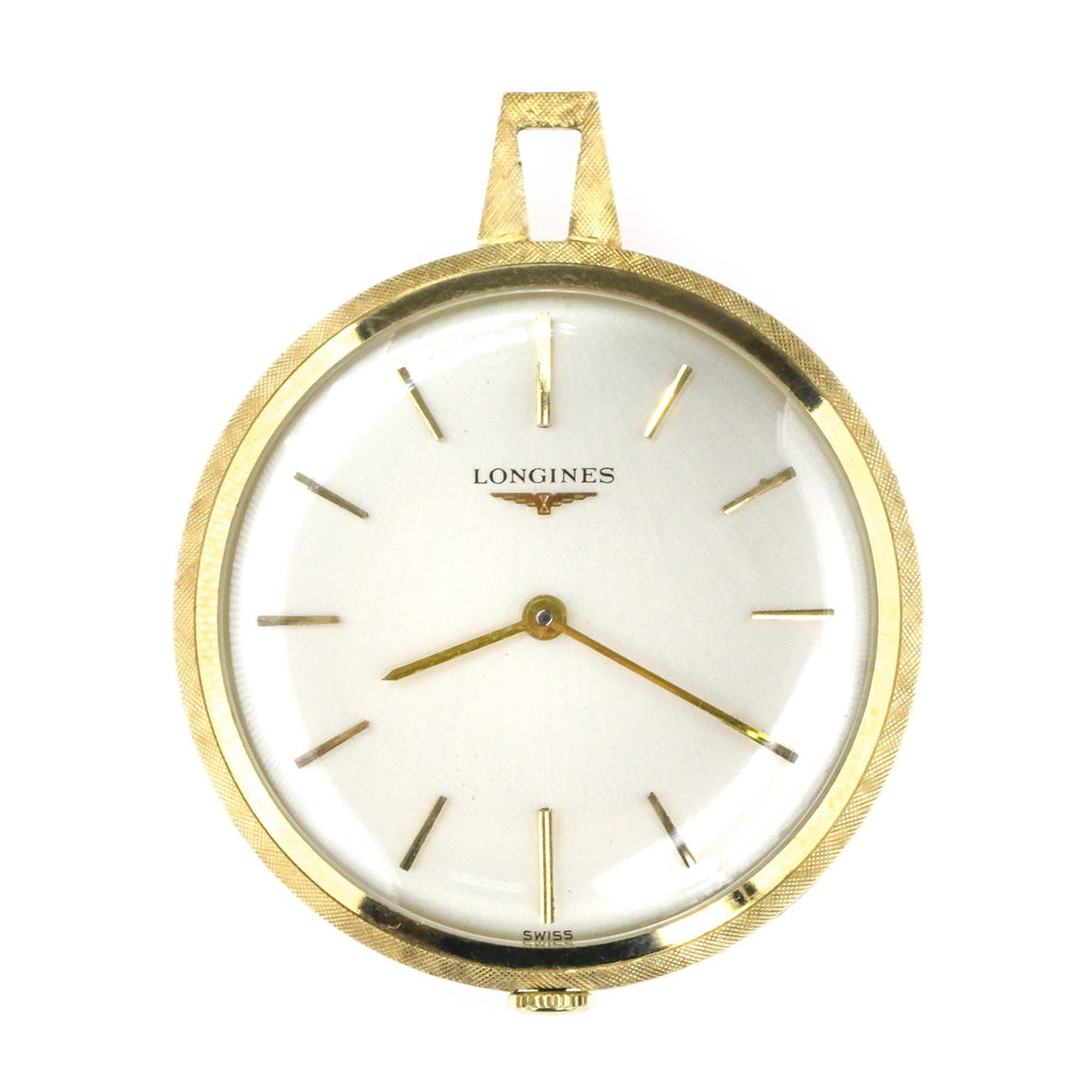 Rare Longines World Fair M 2507 Pocket Watch in 14K Yellow Gold Watches Longines