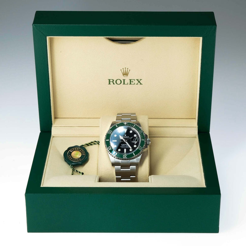 "Rolex Submariner Date 126610LV Green Ceramic ""Kermit"" Wristwatch Watches Rolex"