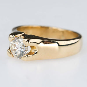Round 0.71ct Diamond Solitaire Engagement Ring in 14K Yellow Gold Size 5.75 Engagement Rings Oaks Jewelry