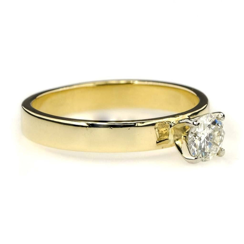 Round Diamond Solitaire Engagement Ring 0.25ct in 14K Yellow Gold Engagement Rings Oaks Jewelry