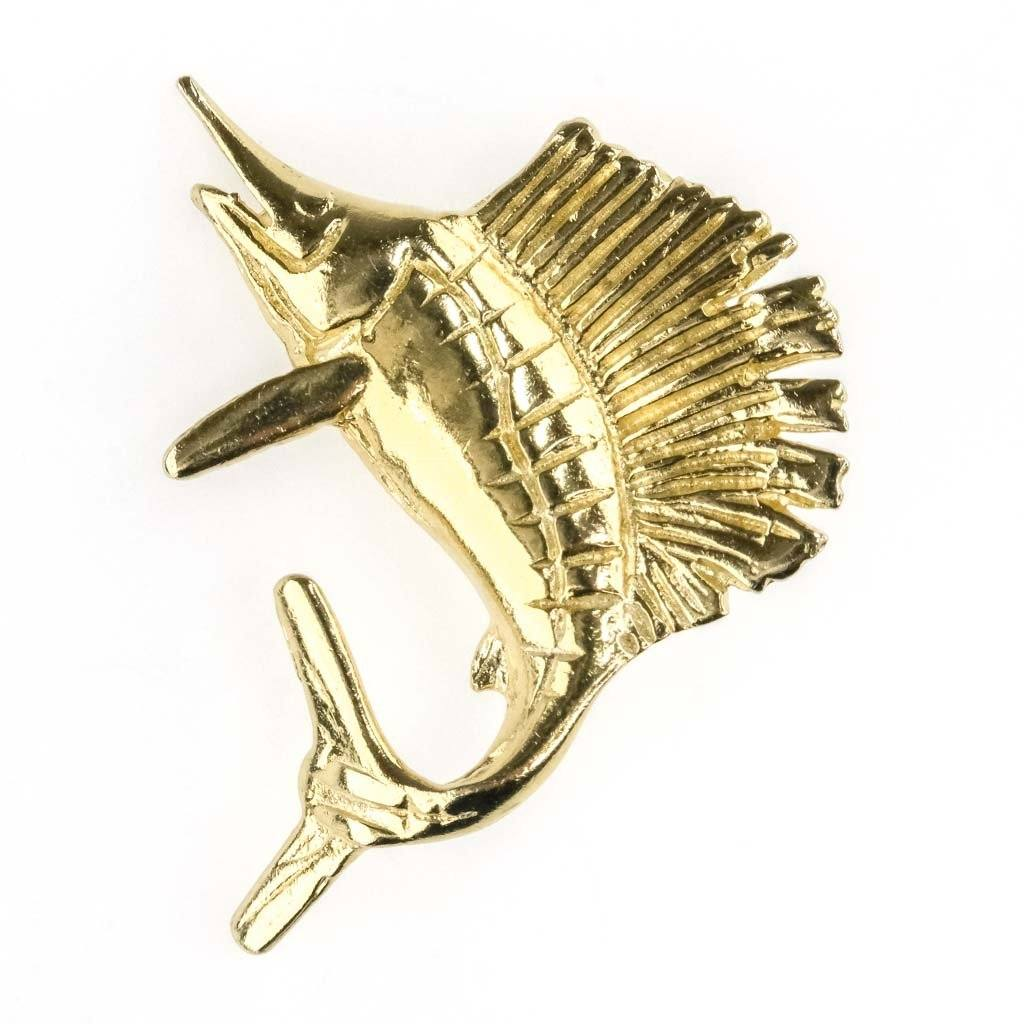 Sailfish Slide Pendant in 14K Yellow Gold Pendants Oaks Jewelry