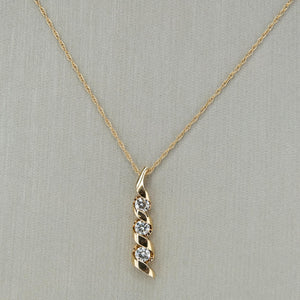 "Sirena 0.50ctw Diamond Journey Pendant on 18"" Necklace in 14K Yellow Gold Pendants with Chains Sirena"