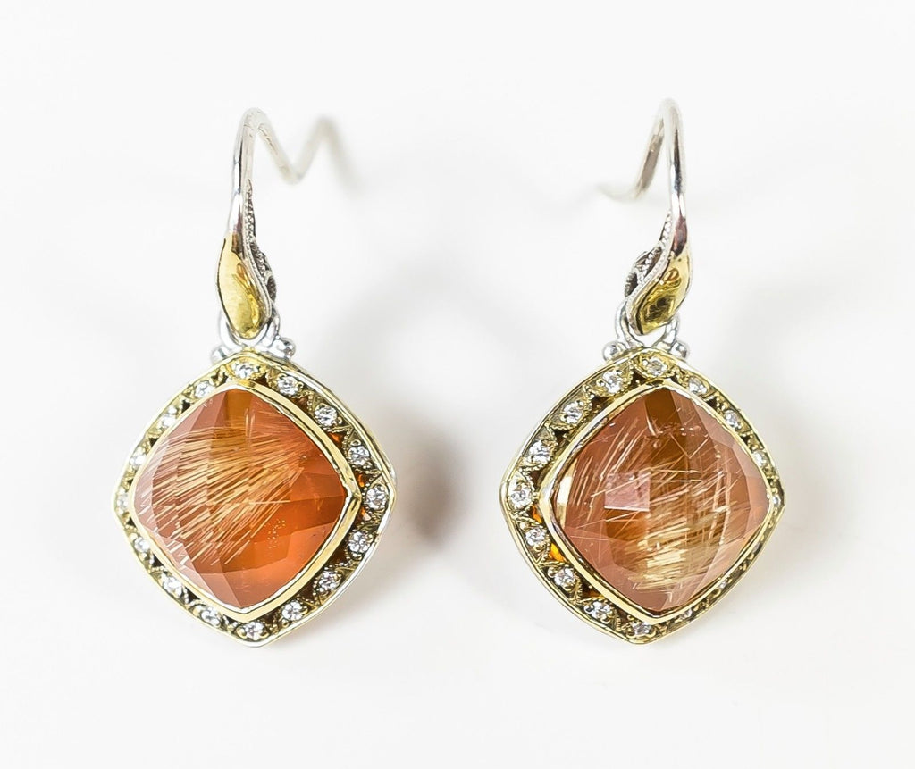 Tacori 18K Yellow Gold & 925 Sterling Silver Scarlet Dangle Pierced Earrings Earrings Tacori