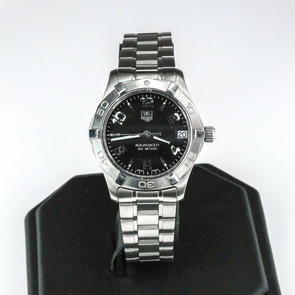 Tag Heuer Aquaracer WAF1310 300M 32MM Black Dial Stainless Steel Watch Watches Tag Heuer