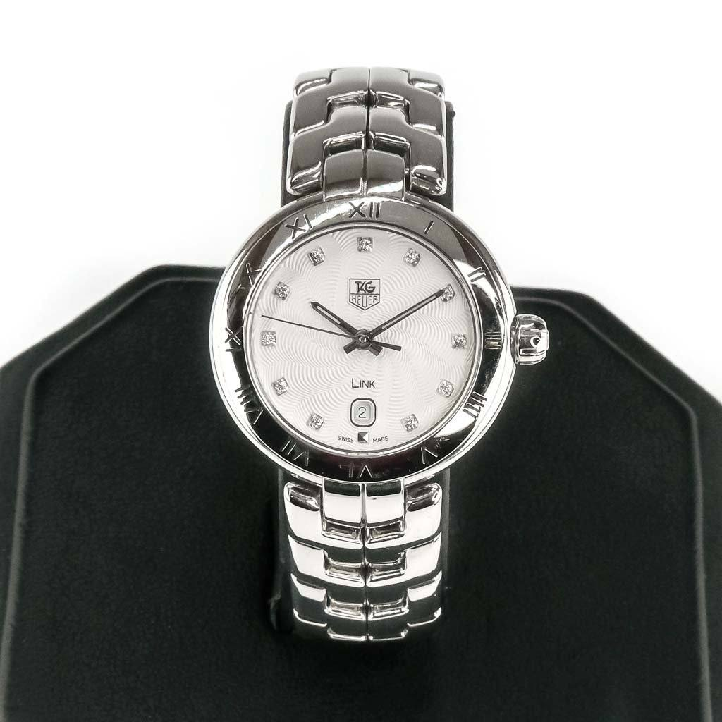 Tag Heuer Link Ladies Diamond Dial 29mm Watch WAT1411 Watches Oaks Jewelry