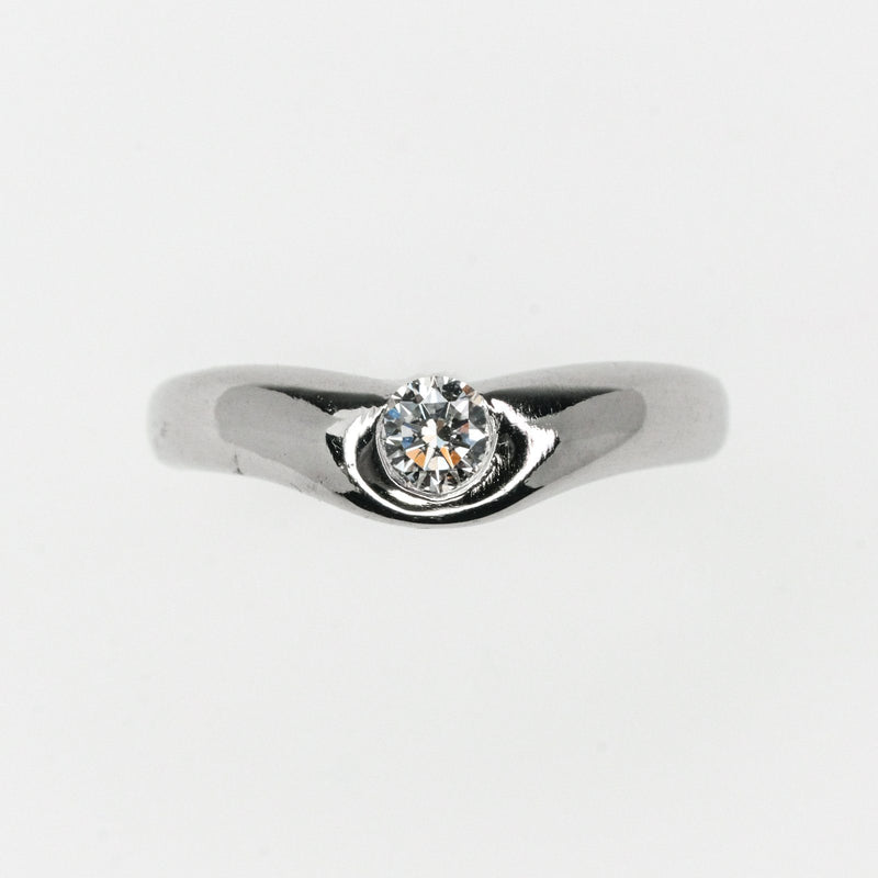 Tiffany & Co. Elsa Peretti Diamond Curved Ring in Platinum Diamond Rings Tiffany & Co.