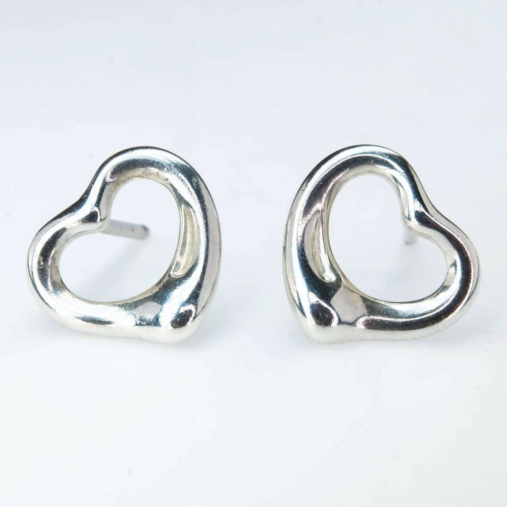 Tiffany & Co. Elsa Peretti Open Heart Stud Earrings in Sterling Silver Earrings Tiffany & Co.