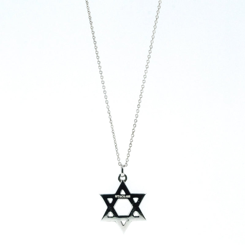 "Tiffany & Co. Elsa Peretti Star of David Pendant & 16.5"" Chain in Sterling Silver Pendants with Chains Oaks Jewelry"