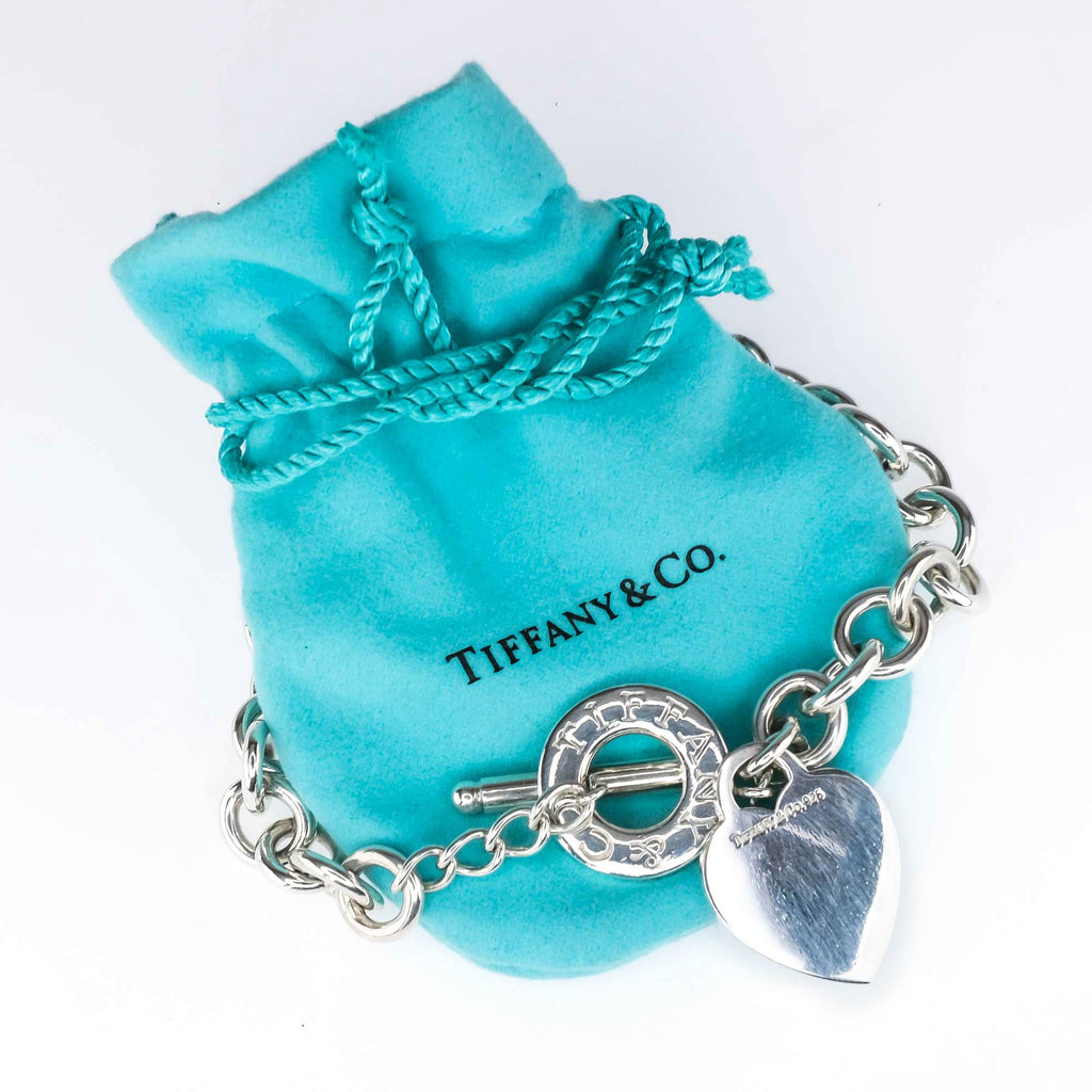 "Tiffany & Co. Heart Tag Toggle 16"" Necklace in Sterling Silver Necklaces Tiffany & Co."