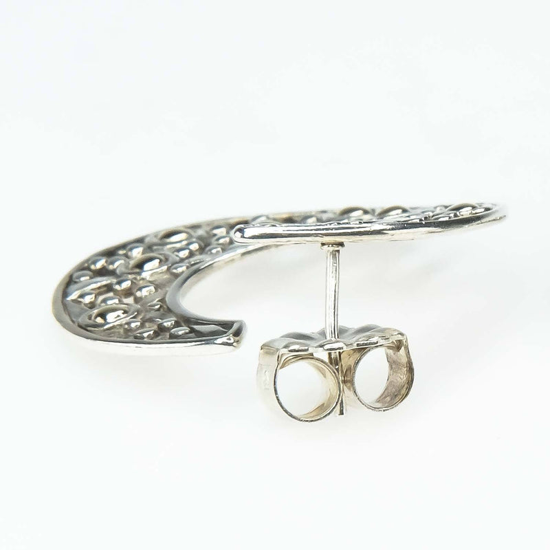 Vintage John Hardy Jaisalmer Dot Open Hoop Earrings in Sterling Silver & Gold Earrings John Hardy