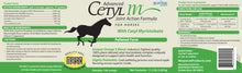 ADVANCED CETYL M® JOINT ACTION FORMULA FOR HORSES (PELLETED FORM)