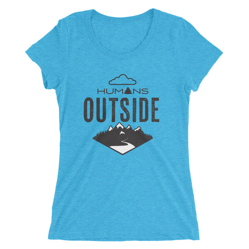 Humans Outside Ladies' short sleeve t-shirt