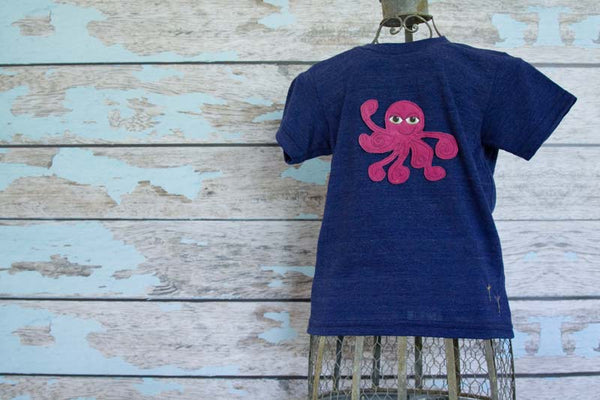 Custom Octopus Heathered Crew