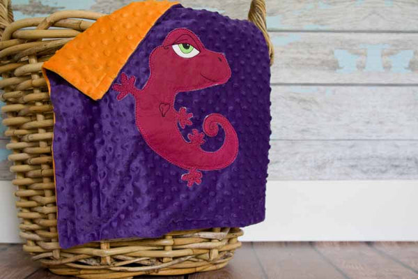 Ainsley Appliqued Gecko Lovie