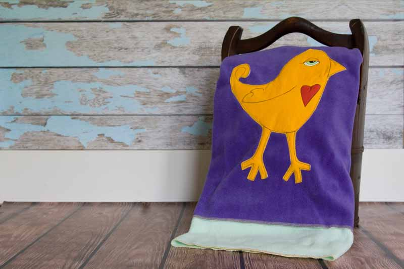 Ava Appliqued Bird Blanket