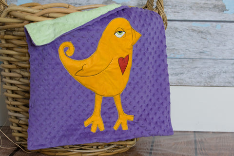 Ava Appliqued Bird Lovie