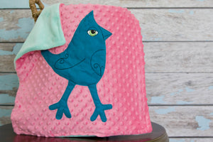 Caroline Appliqued Mohawk Bird Lovie