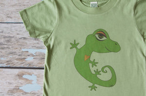 Avocado Green Printed Gecko Crew
