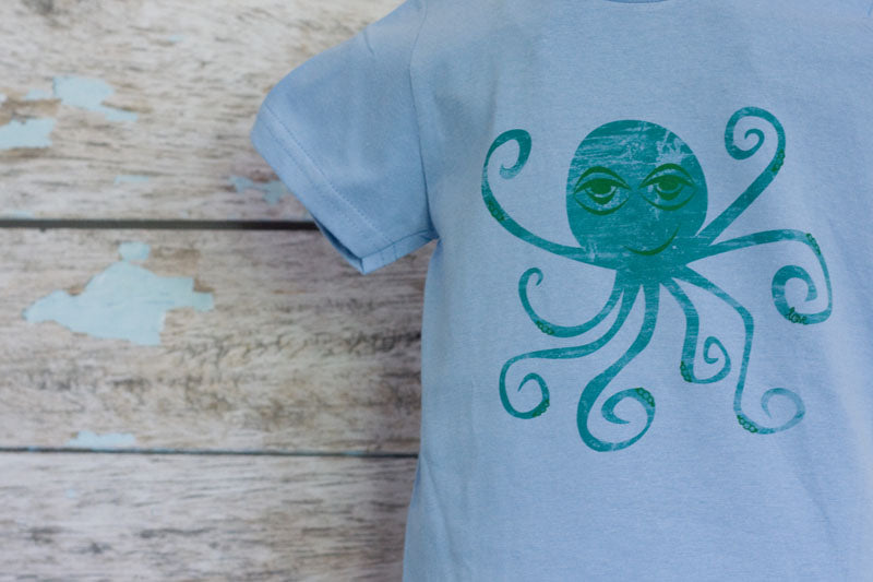 Sky Blue Printed Octopus