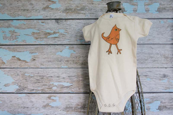 Natural Printed Onesie