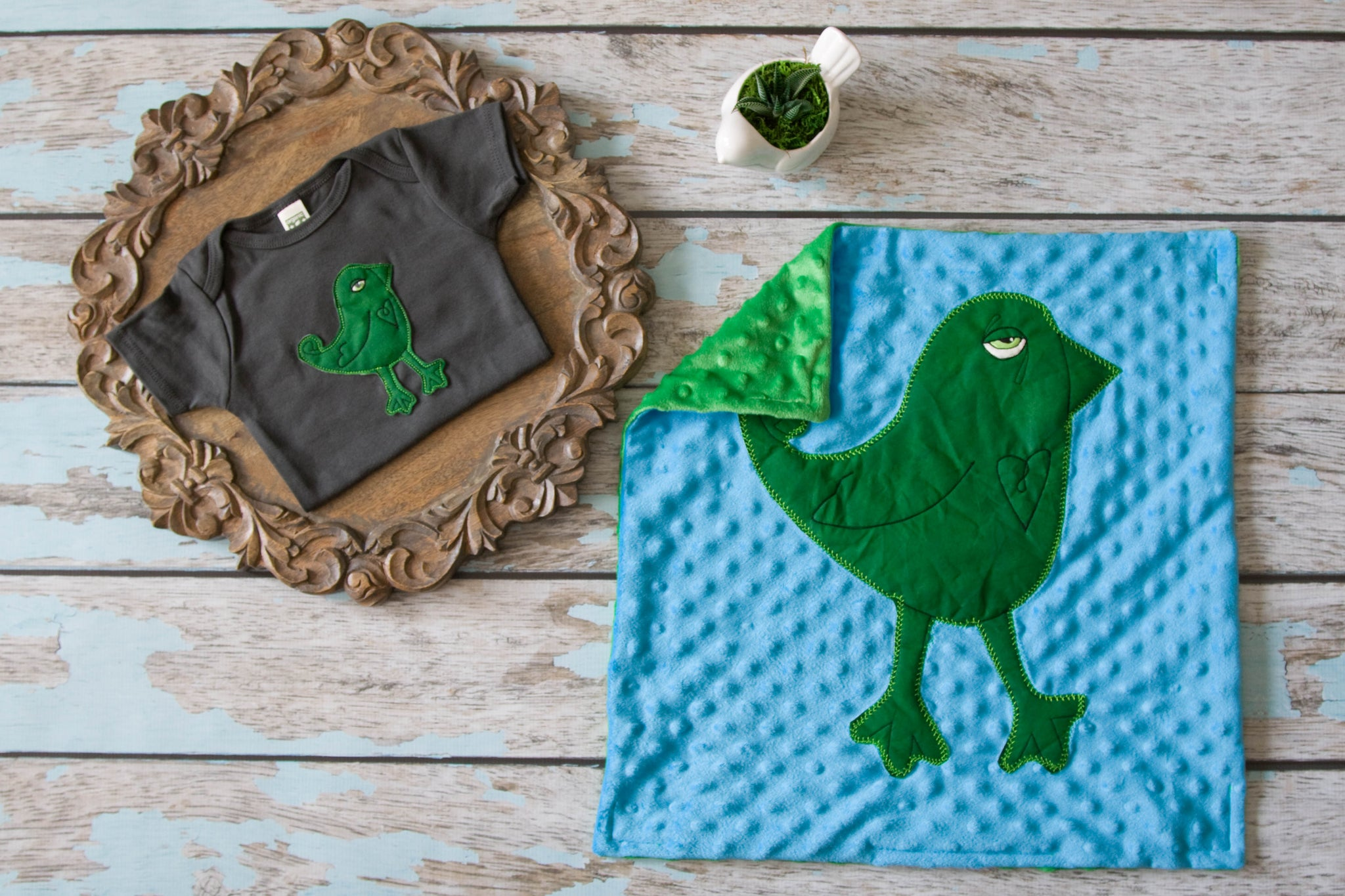 EXCLUSIVE Farmhouse Market Kids Appliqued Bird Lovie